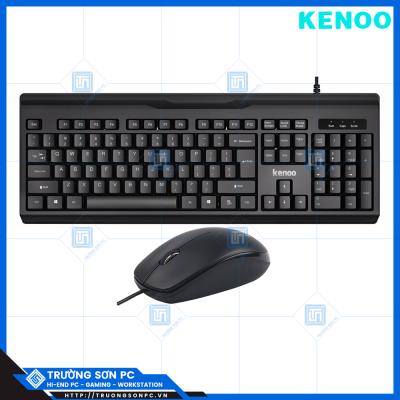 Combo Phím Chuột Tính Có Dây KENOO K6010 & M375 | USB