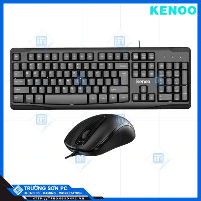 Combo Phím Chuột Tính Có Dây KENOO 9100K & 3900M | USB