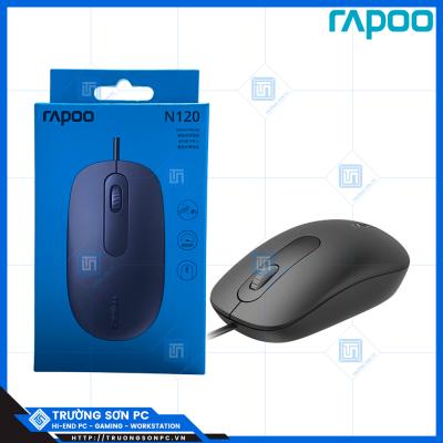 Chuột Máy Tính Có Dây RAPOO N120 | Chuột Quang USB